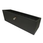 リアシート小物BOX 【黒レザー×緑タータン】